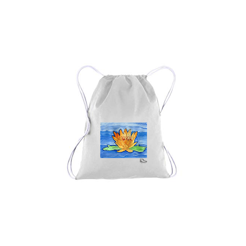 Sam Potashnick Water Lilies Drawstring Bag