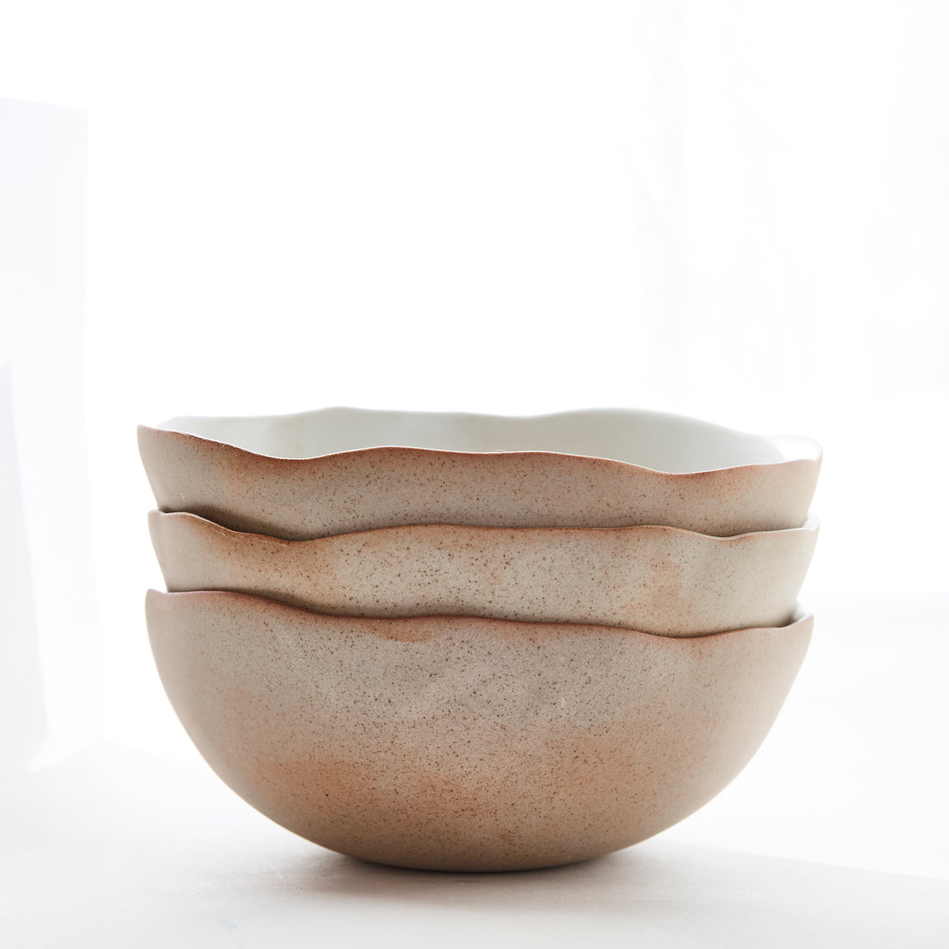 Eggshell Morning Bowl - Naked/White
