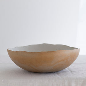 Eggshell Serving Bowl - White