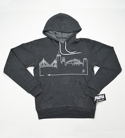 BOSTON • Grey on Dark Grey