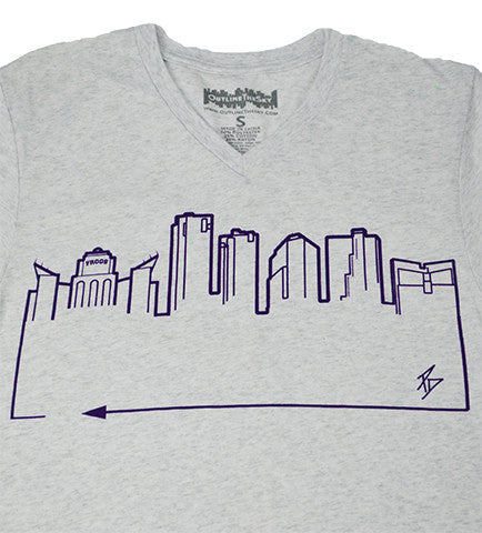 FORT WORTH • Purple on Heather White