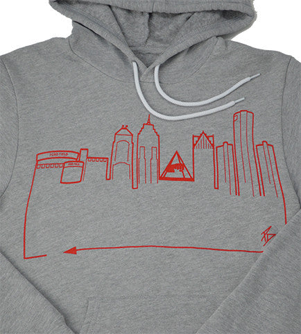 DETROIT • Red on Grey
