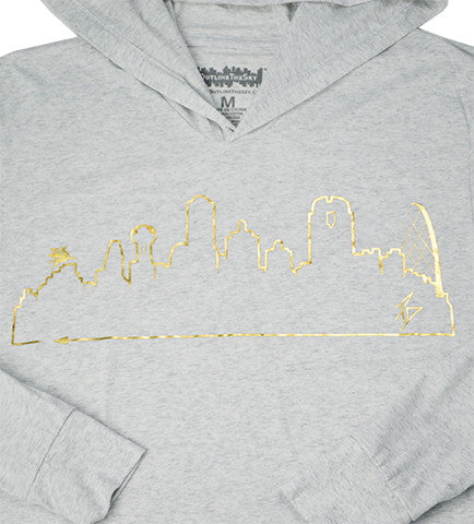 DALLAS • Gold Foil on Heather White