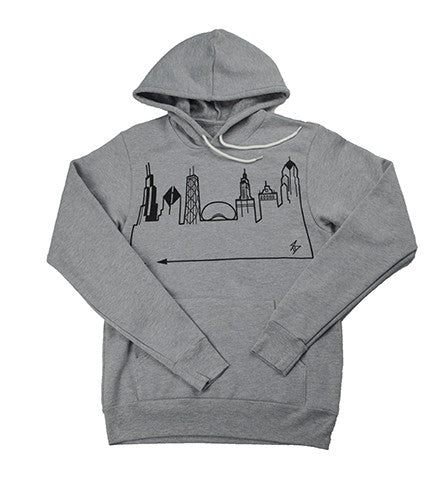 CHICAGO • Black on Grey Hoodie