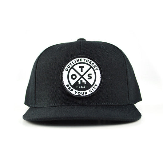 OutlineTheSky Black Snapback Hat