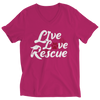 Live Love Rescue Dog Ladies V Neck