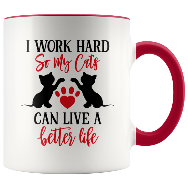 Work Hard For Cats Mug