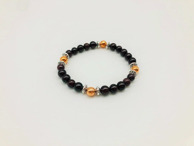 Garnet & Copper Motivational and energising bracelet