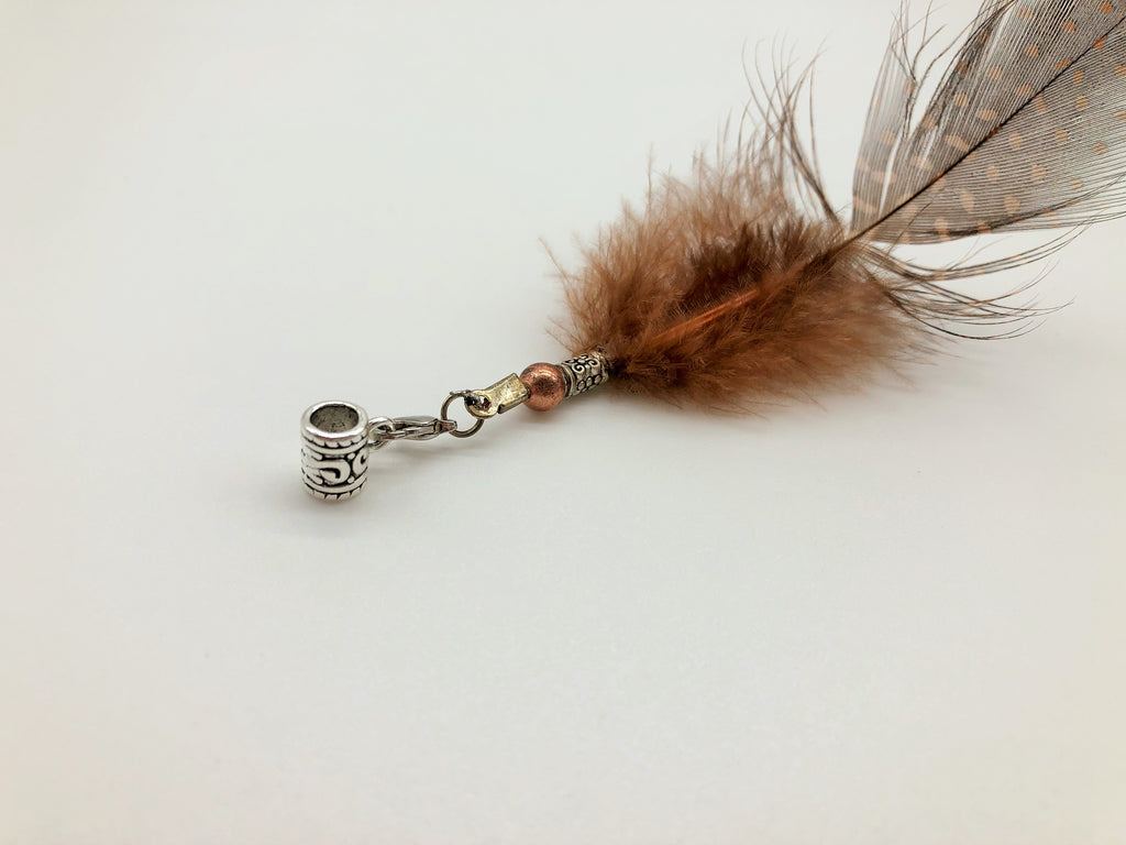 Small Hair Cuff with Charm
