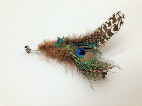Peacock Feather Festival haircuff