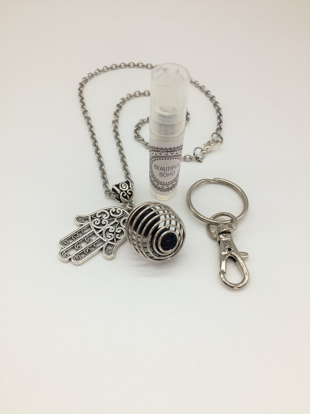 Hand of Hamsa and frankincense essential oil protective talisman