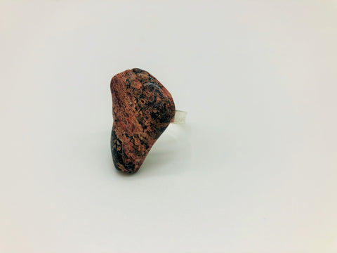 Leopard Jasper Healing Ring for Physical & emotional wellness.