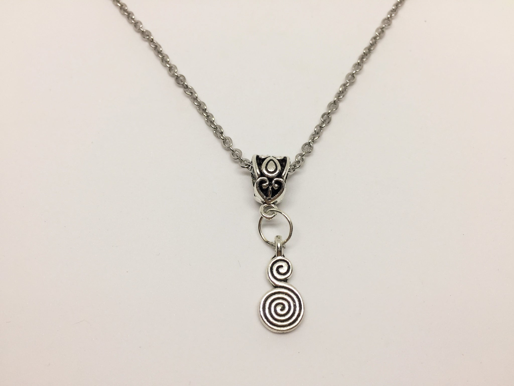 Celtic Goddess Double spiral Pendant