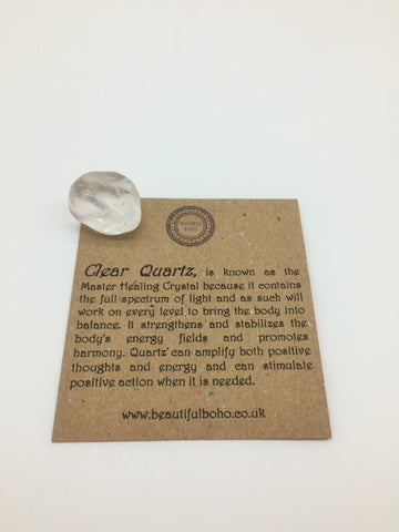 Clear Quartz  Promotes Physical & Emotional Wellness