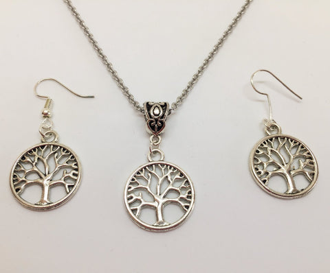 Large Tree of Life Pendant & Earring Set