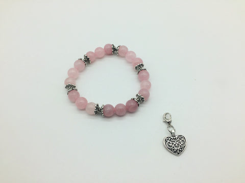 Rose Quartz unconditional Love Charm Bracelet