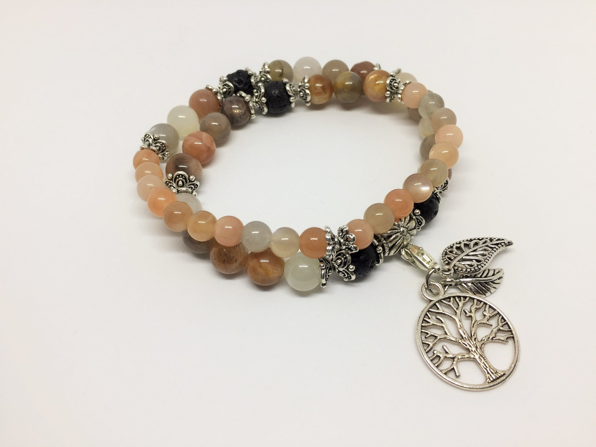 Peach Moonstone Calming & Balancing Aroma Jewellery