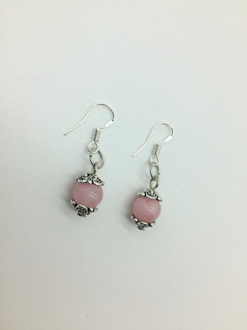 Rose Quartz Unconditional Love Crystal stone earrings