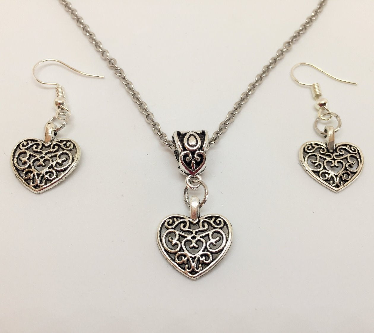 Celtic Heart Pendant & Earring Set