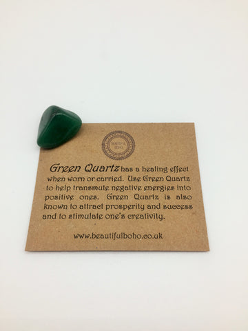 Green Quartz Healing stone promotes Physical & Emotional wellness