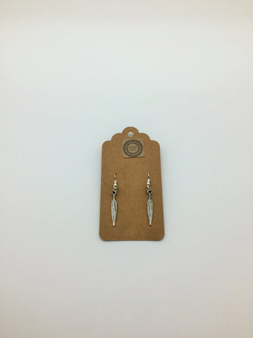 Small feather earrings