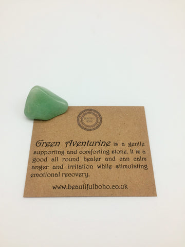 Green Adventurine Healing stone promotes Motivation & Energising and Health, Luck & prosperity