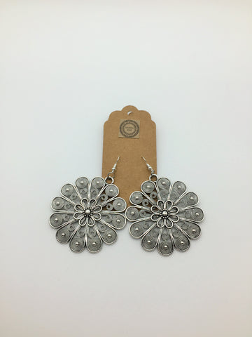 Paisely Flower Earrings