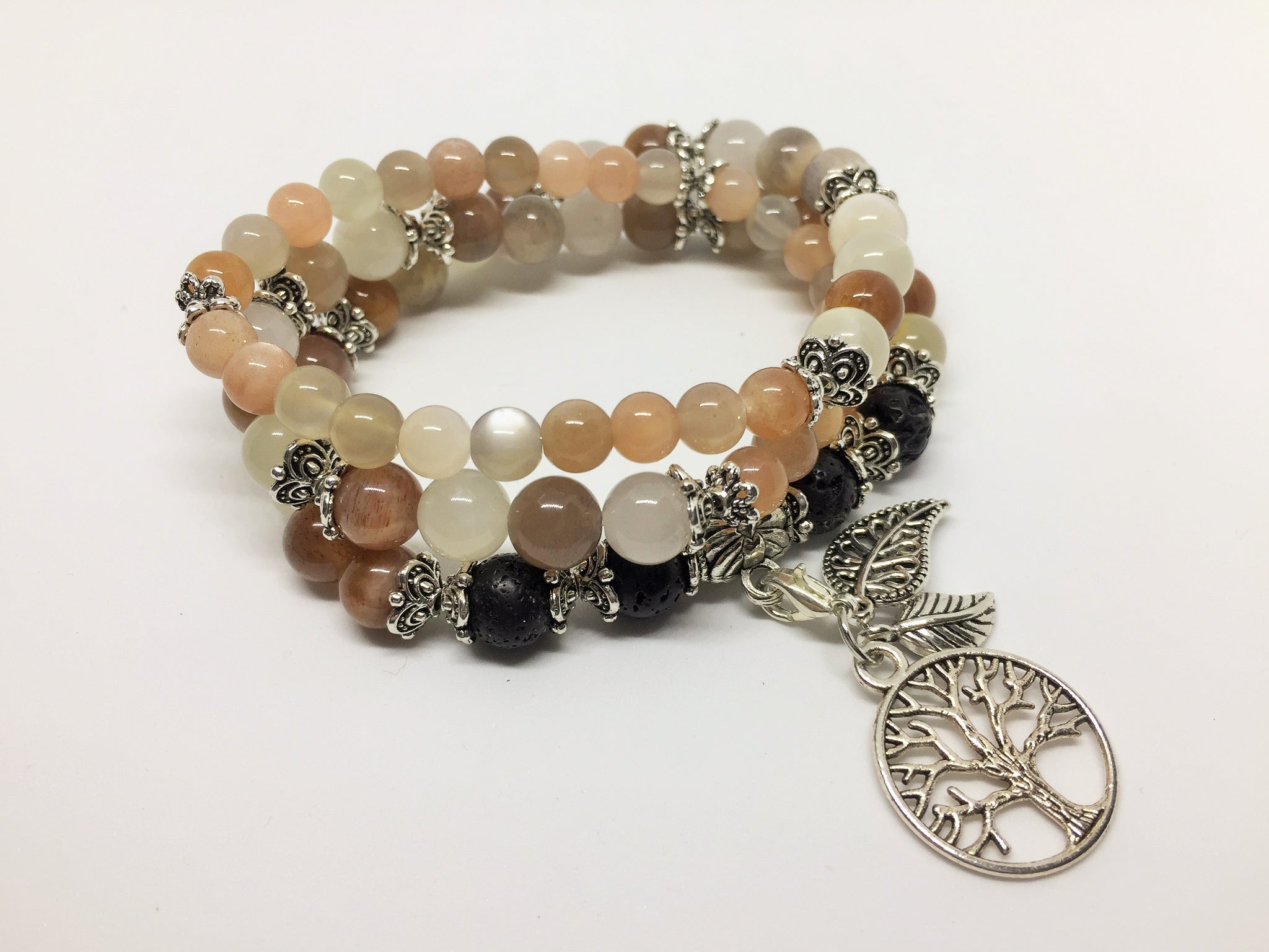 Peach Moonstone Calming & Balancing CrystalAroma Jewellery