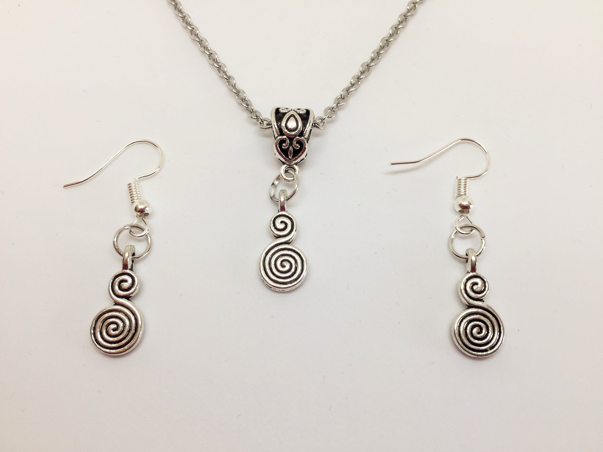 Wicca Goddess Pendant & Earring Set
