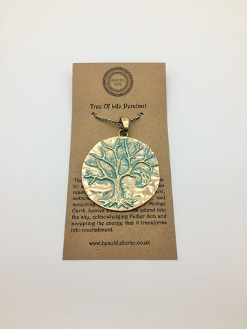 Tree of Life & Crescent Moon Pendant