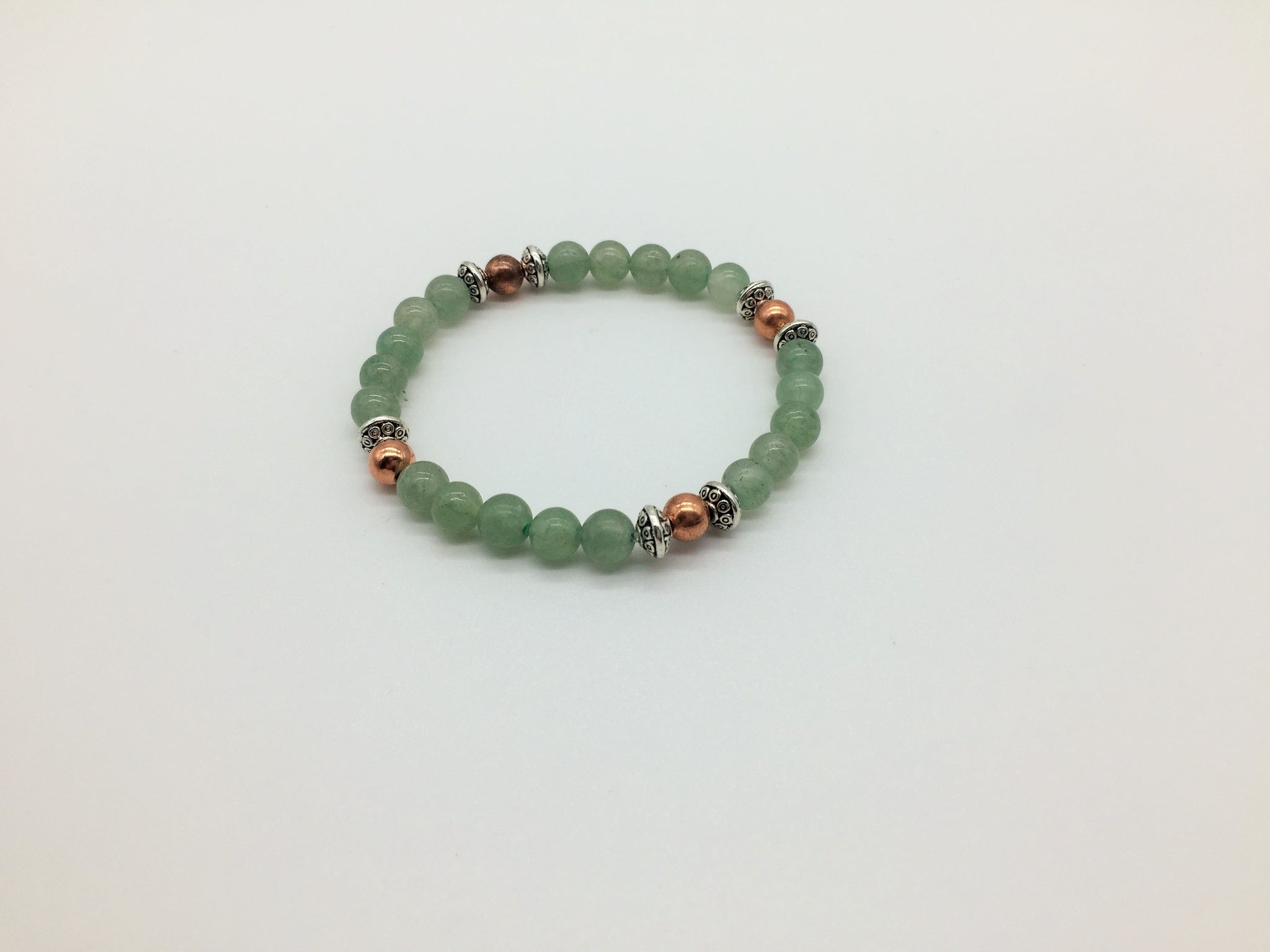 Motivation & Energising Green Adventurine & Copper healing bracelet