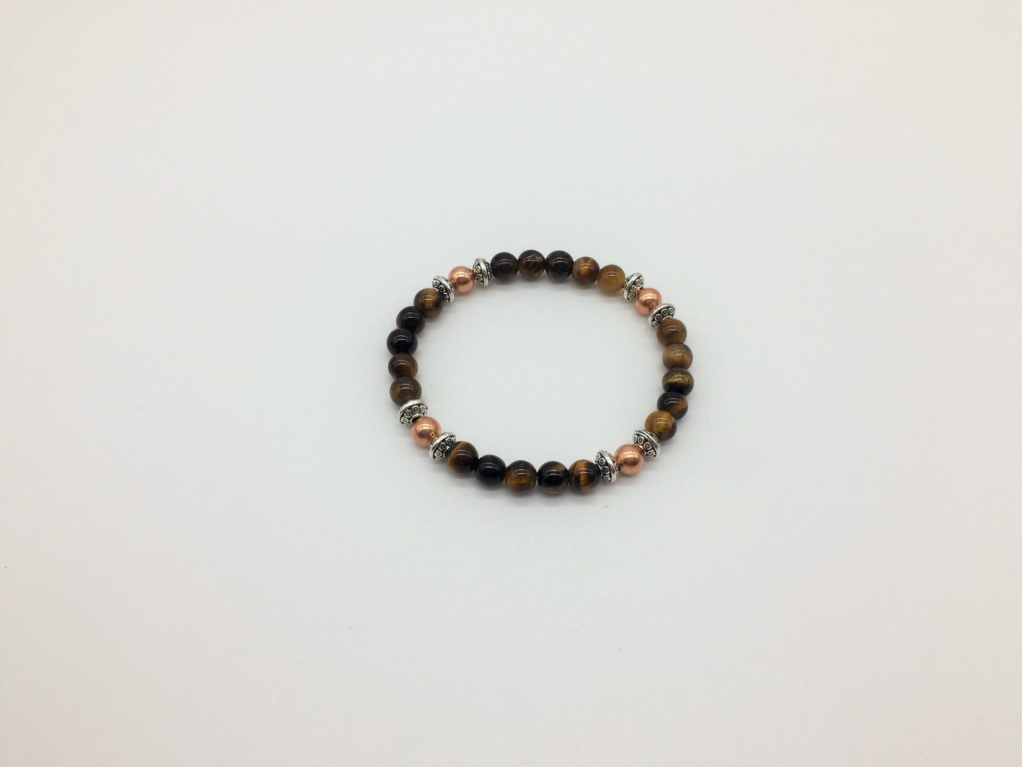 Creativity, Meditation & spirituality Tigers Eye & Copper healing Bracelet