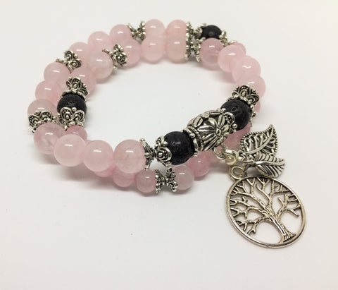 Rose Quartz Positivity & Happiness Aroma Jewellery