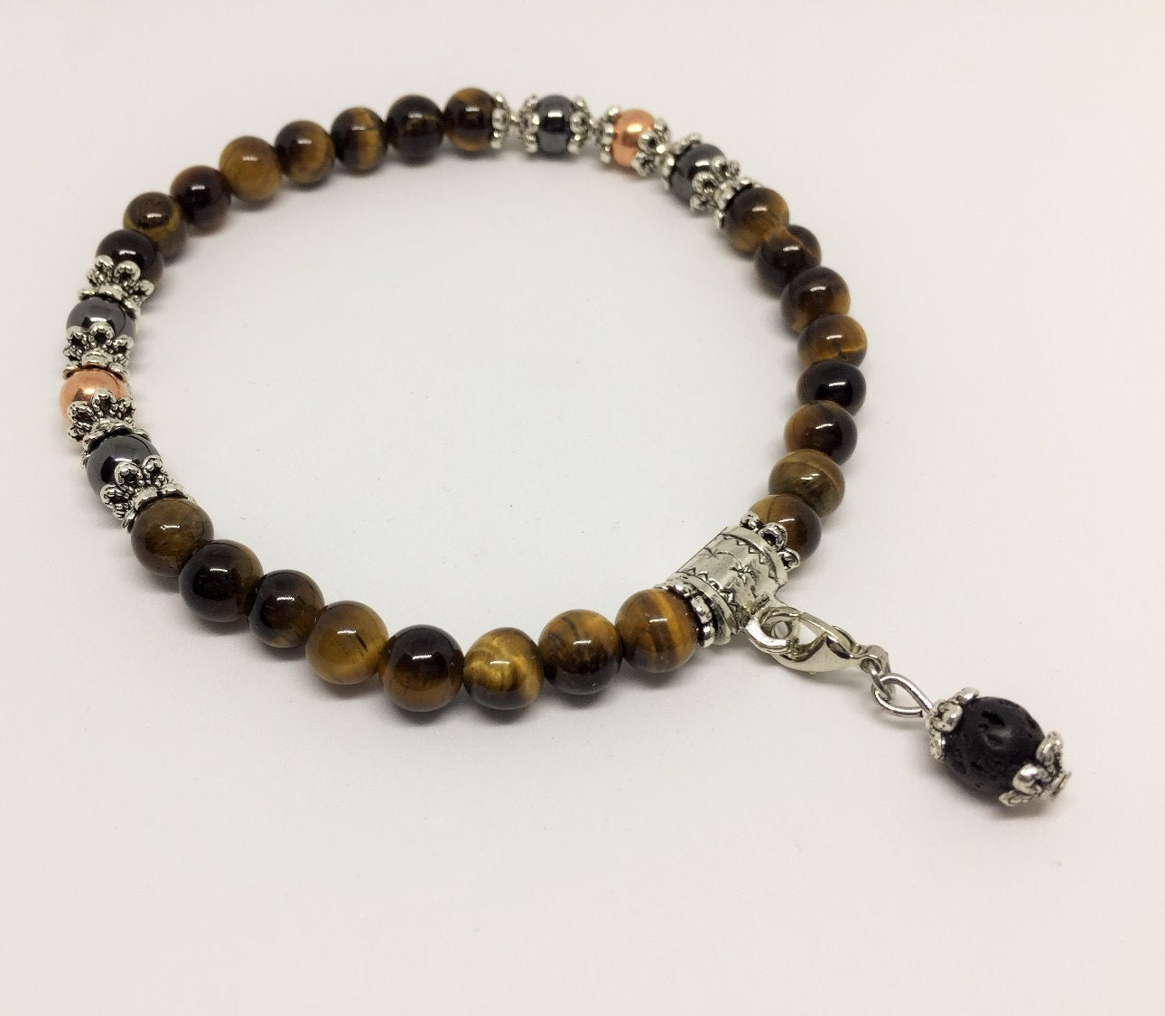Tigers Eye, Copper & Magnetic Healing Bracelet