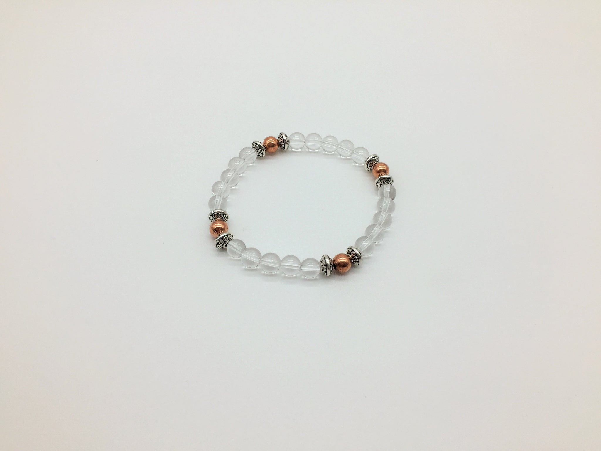 Physical & Emotional Healing Clear Quartz & Copper Wellness Bracelet