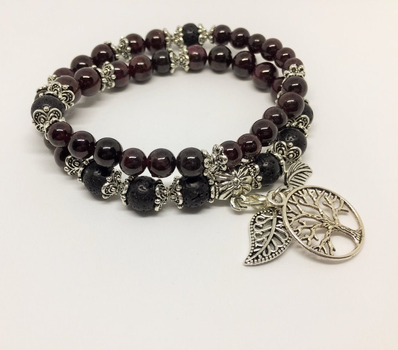 Garnet Motivating & Energising Aroma Jewellery