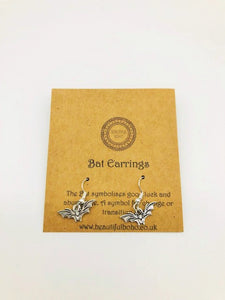 Wicca Bat Earrings