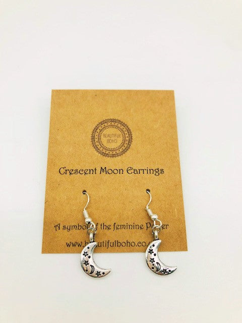 Wicca Crescent Moon earrings
