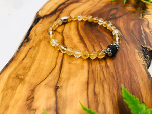 Citrine positivity & happiness small bead simply crystal scented bracelet