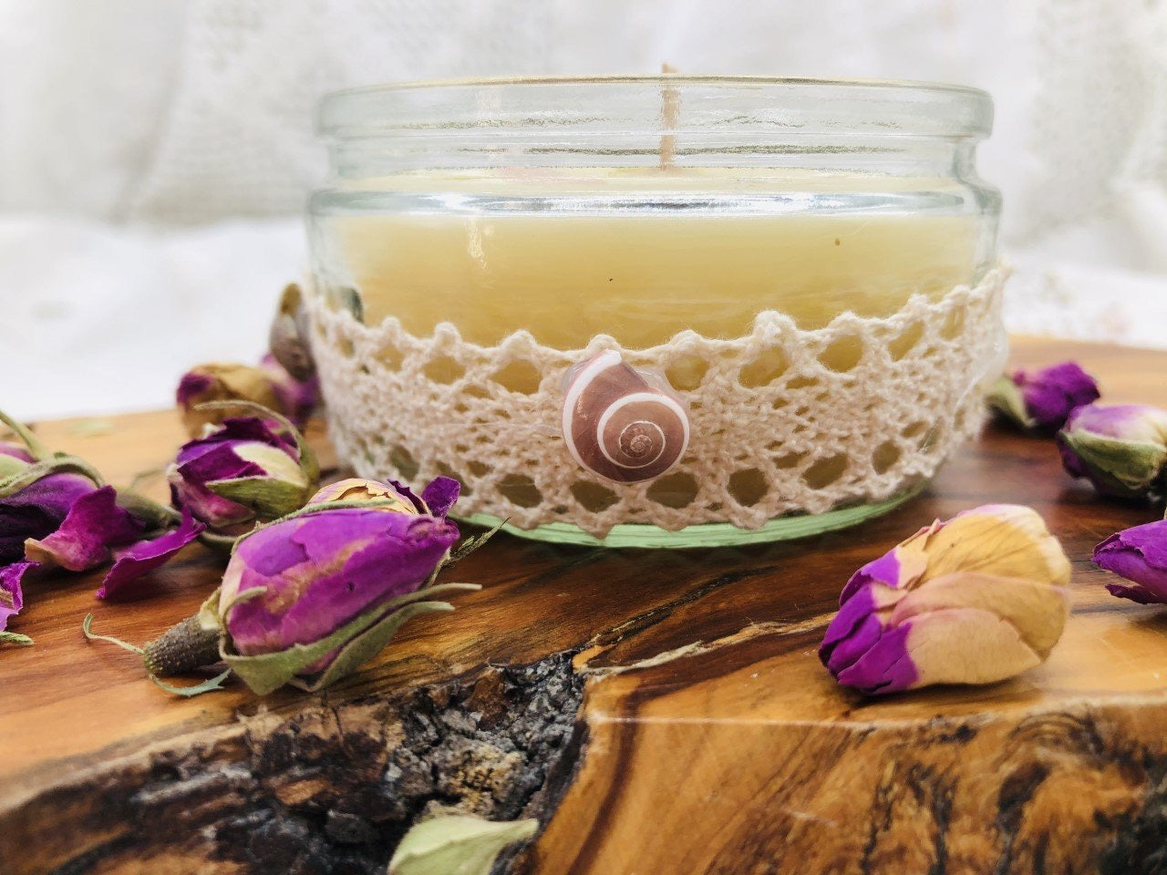 Divine Feminine Alignment Scented Crystal Candle