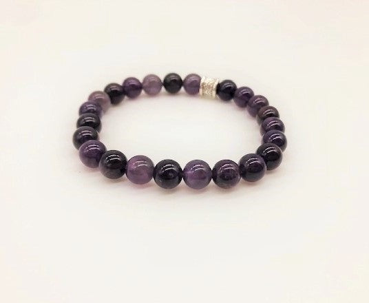 Amethyst Simply Crystal Creativity & Spiritual Awareness Large Bead Bracelet