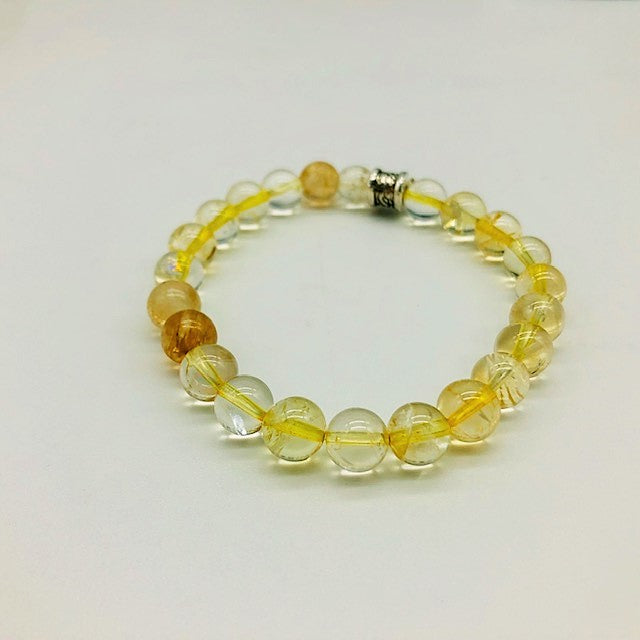 Citrine Simply Crystal Positivity & Happiness Large bead Bracelet