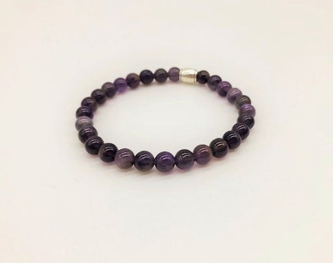 Amethyst Simply Crystal Creativity, Effective Meditation & Spiritual Awareness Small Bead Bracelet
