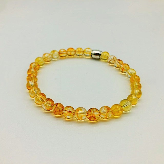 Citrine Simply Crystal Positivity & Happiness Small Bead Bracelet