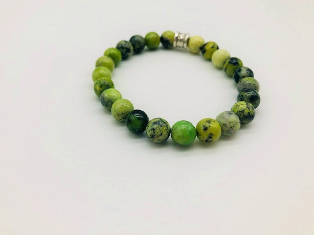 Simply Crystal Chrysoprase Emotionally Grounding Large Bead Bracelet
