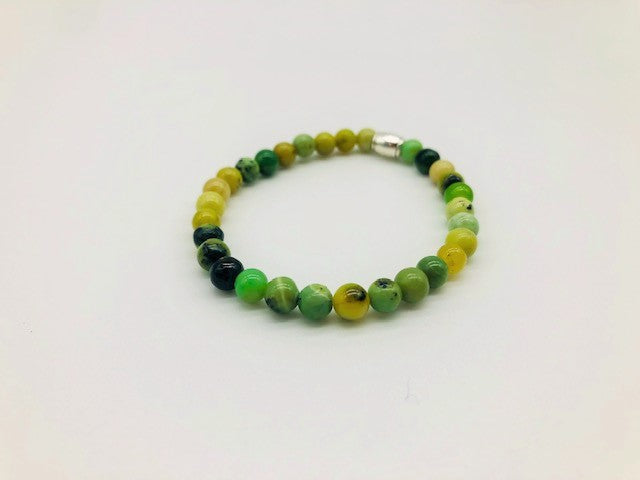 Simply Crystal Emotionally Grounding Chrysoprase Small Bead Bracelet