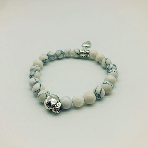Wicca Howlite Stress Relief Spell casting Bracelet