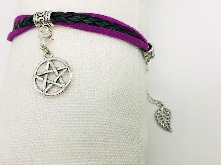 Wicca Simple Pentagram Bracelet