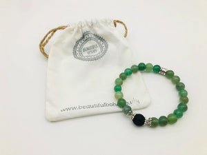 Green Aventurine Wealth, Health & Prosperity Large Bead Simply Crystal Aroma Healing