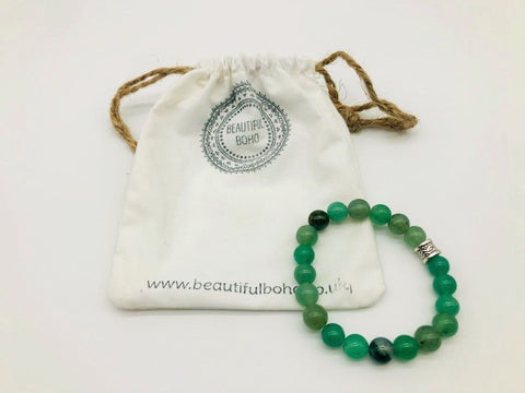 Green Aventurine Simply Crystal Large Bead Bracelet